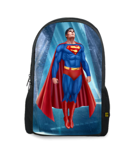 superman printed backpacks